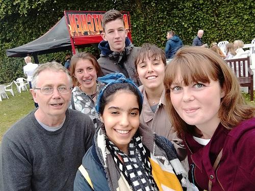 at David's host family England